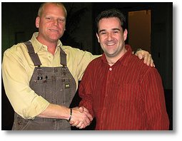Mike Holmes with Dermot Connolly